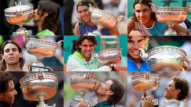 Nadal y sus 9 Roland Garros
