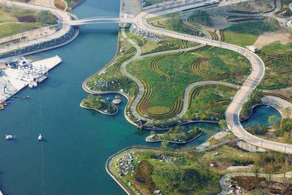 El parque central de Songdo, según sus arquitectos