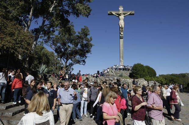 El Monte Calvario, en Tandil, siempre tiene su público fiel