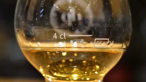 La medida del whisky malta puro