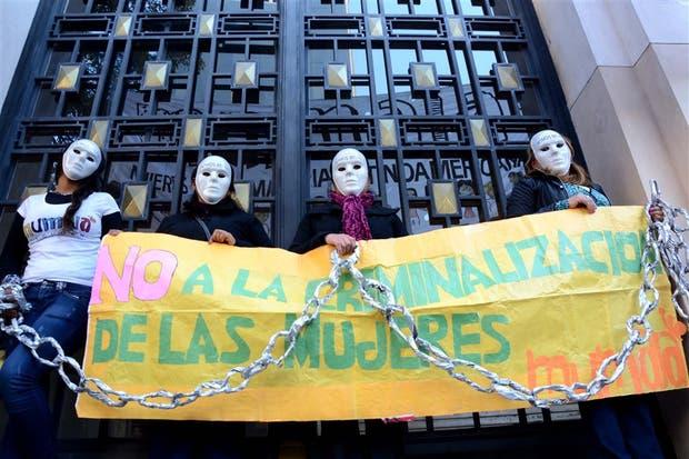 Uno de los reclamos en Tucumán