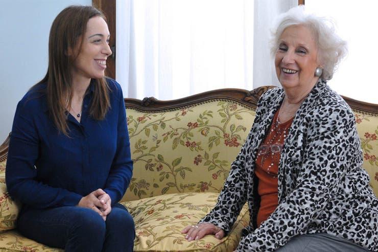 Estela de Carlotto con Vidal: