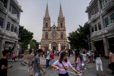 La Catedral del Sagrado Corazón en Guangzhou, China