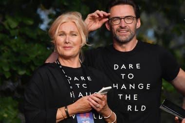 Pareja poderosa. Hugh Jackman y su esposa, Deborah-Lee Furness, también sumaron su voz para luchar contra la pobreza extrema