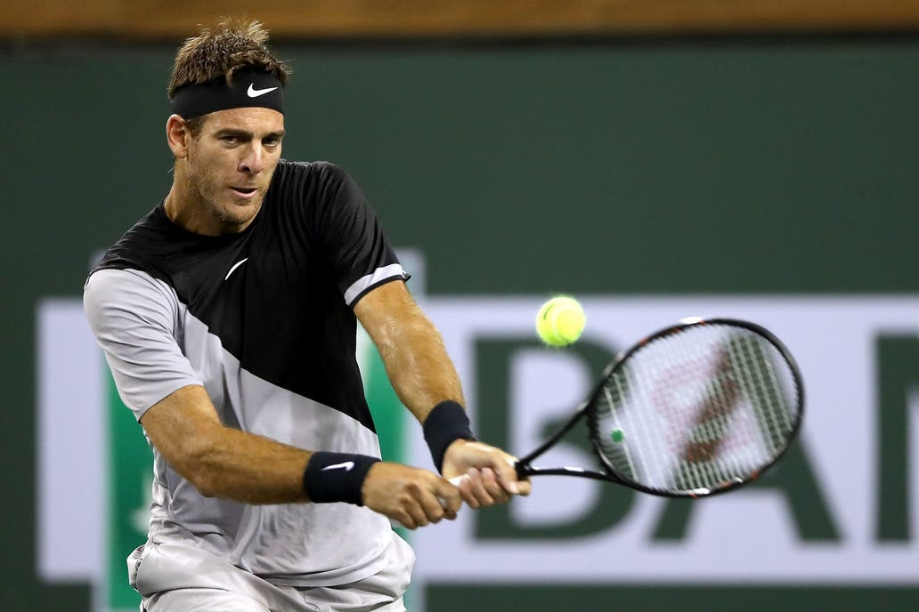 Del Potro tuvo un comienzo arrollador en Indian Wells