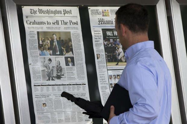 La venta del Washington post a Jeff Bezos fue anunciada el 5 de agosto