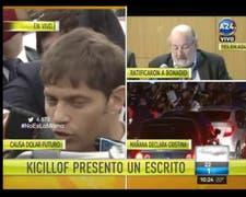 Kicillof denuncia persecuta política