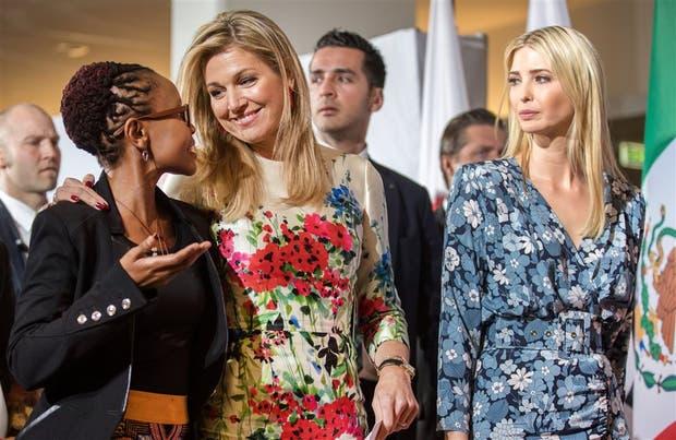 Máxima e Ivanka Trump, ayer, en la cumbre de mujeres del G-20 en Berlín