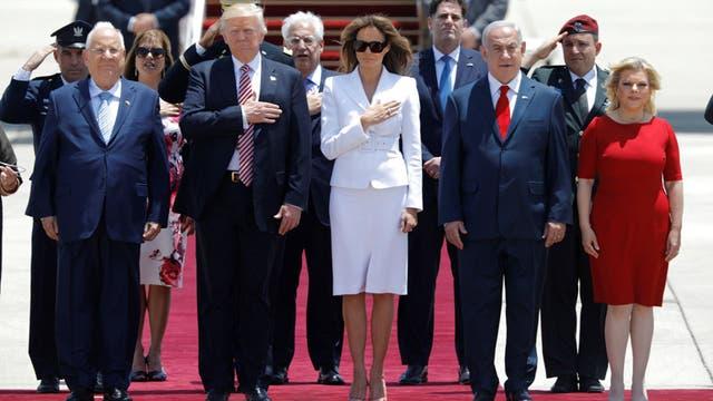 Trump está en Israel para su primera visita y con la mirada puesta en Palestina