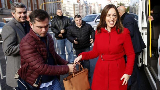 Vidal llegó a Mar del Plata junto al jefe de Gabinete, Marcos Peña