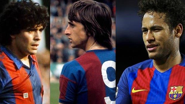 Maradona, Cruyff, Neymar