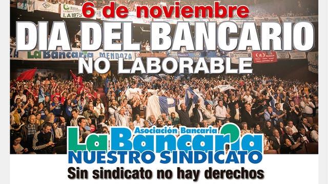 El lunes no hay bancos por el Día del Bancario