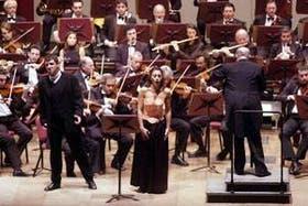 Alejandra Malvino, Marcelo Lombardero, Pedro Calderón y la Sinfónica