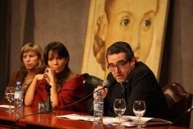 Vaca Narvaja, Marcó del Pont y Calcagno, en un debate en el PJ