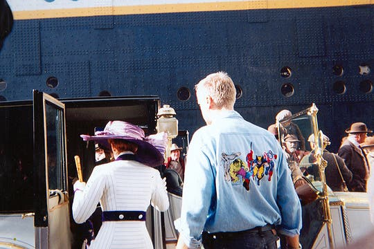 Kate Winslet y James Cameron entrando al barco. Foto: Gentileza Luis Incisa