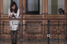 Cristina Kirchner saludó a los militantes tras la cadena nacional