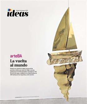 Tapa del suplemento especial de Ideas sobre la 25a edición de arteBA