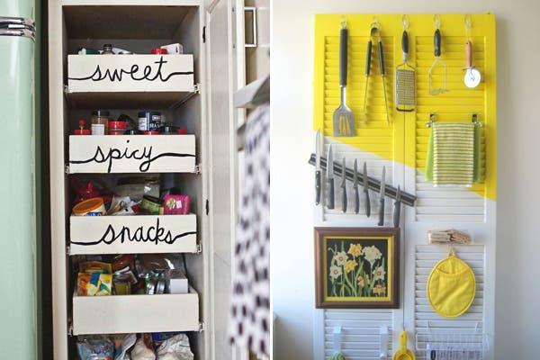 Acá dos propuestas divertidas para darle un poco de onda a la decoración de la cocina ¿Qué te parecen?. Foto: Visit storagegeek.tumblr.com
