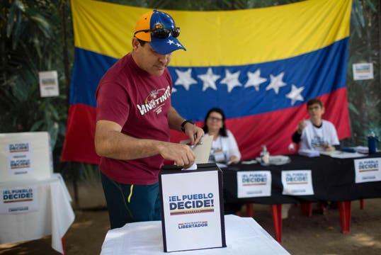 Los venezolanos que viven en Brasil también votaron. Foto: AFP