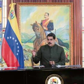 Maduro presidió ayer una reunión de gabinete en Miraflores