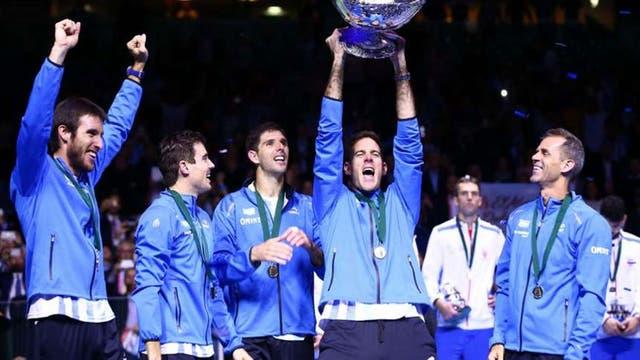 Del Potro llevó a la Argentina a lo más alto: en 2016 ganó por primera vez la Copa Davis