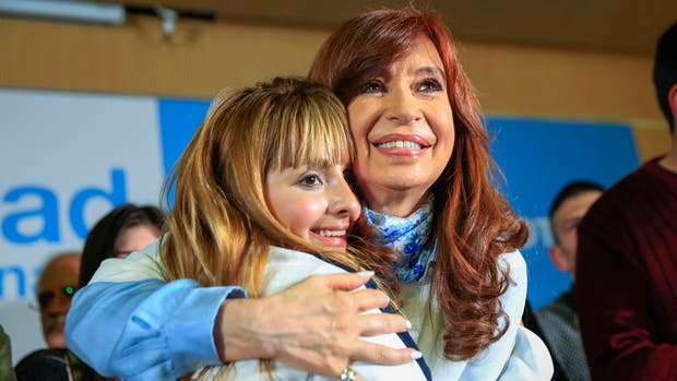 Cristina durante su cierre de campaña antes de las PASO del domingo