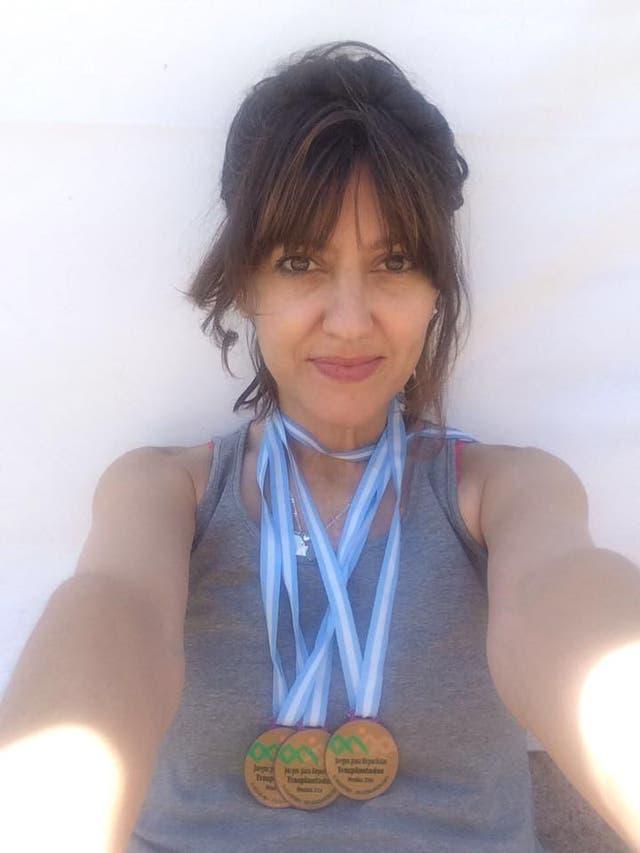 Silvana Ruggieri con sus medallas
