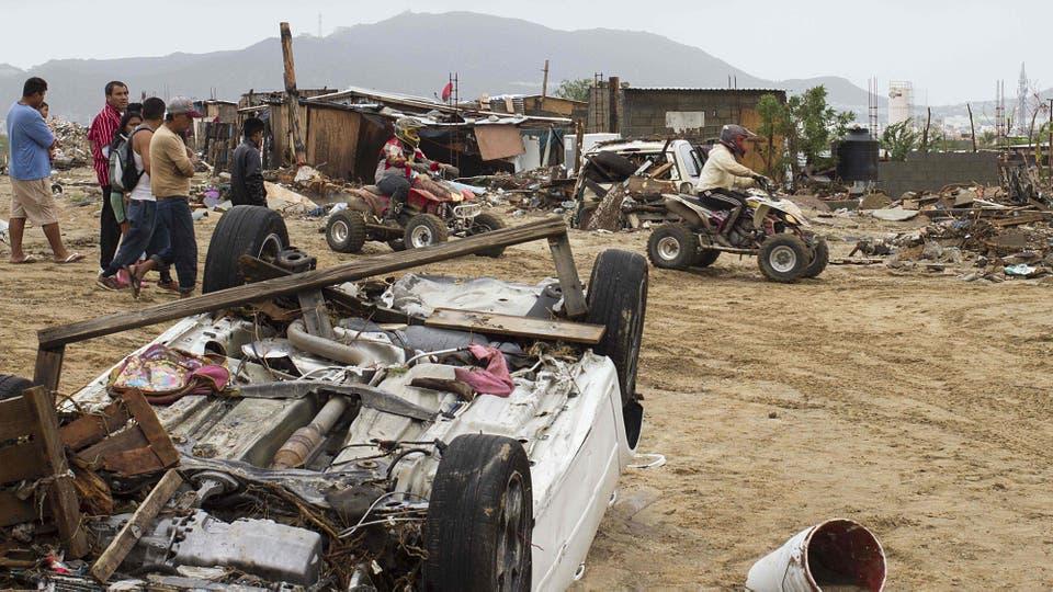 El promedio de lluvia que recibe Baja California Sur en todo un año es de 260 milímetros, mientras que la tormenta tropical provocó que cayeran 750 milímetros solo en 24 horas. Foto: AFP