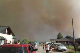 El humo puede verse en buena parte del noroeste de la provincia