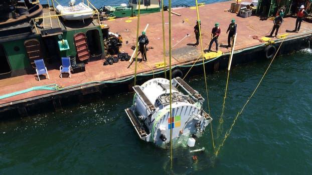 El prototipo fue puesto a prueba en las aguas del Océano Pacifico. Foto: Gentileza Microsoft