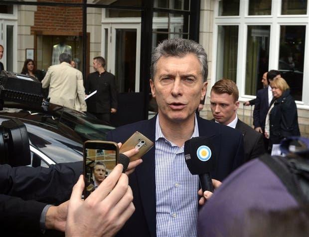 El Presidente ayer, en declaraciones a la prensa en Bruselas