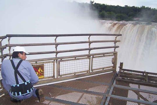 La zona del Garganta del Diablo, en las Cataratas del Iguazú permanece cerrada al público. Foto: Prensa Iguazú Argentina