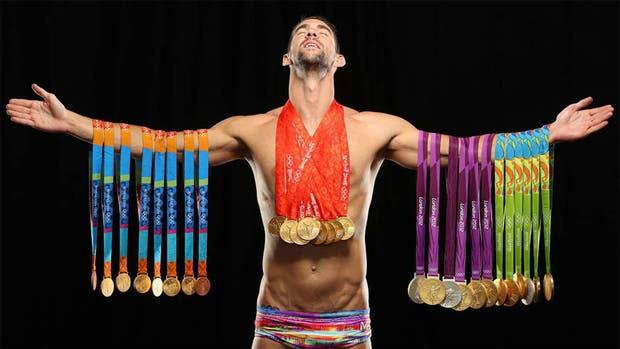 La imagen lo dice todo: Phelps, el más grande de la historia en natación
