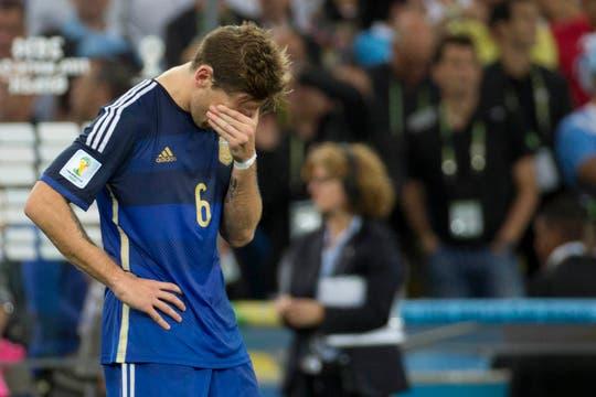 La tristeza de los jugadores. Foto: LA NACION / Juan López / Enviado especial