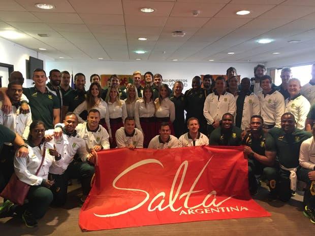 Los Springboks en su llegada a Salta