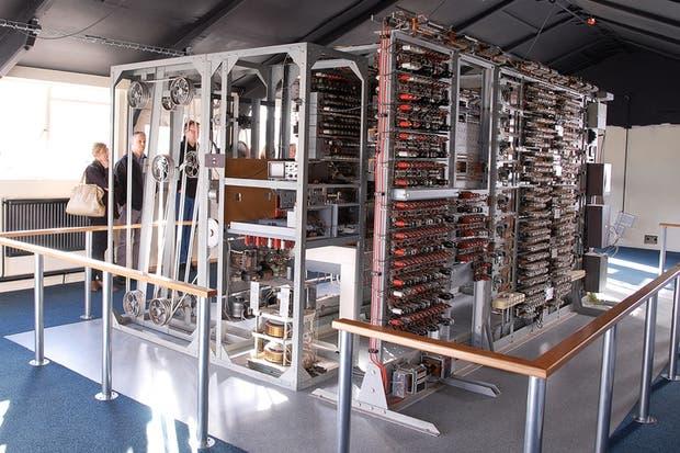 Una vista del Colossus, el equipo que el Museo Nacional de la Computación de Reino Unido está reconstruyendo