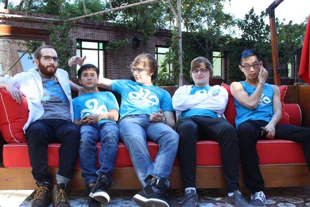 El equipo Cloud 9: de izquierda a derecha, Daerek