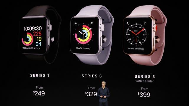 Los precios de los relojes Apple Watch Series 1 y Series 3