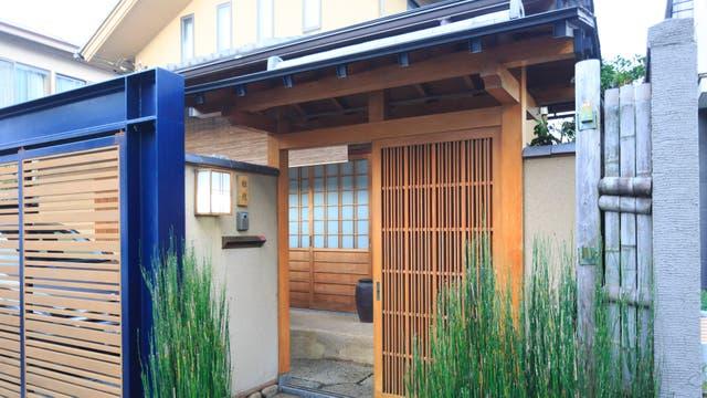 El exterior de la casa de la ceremonia, típico japonés. Gentileza Airbnb