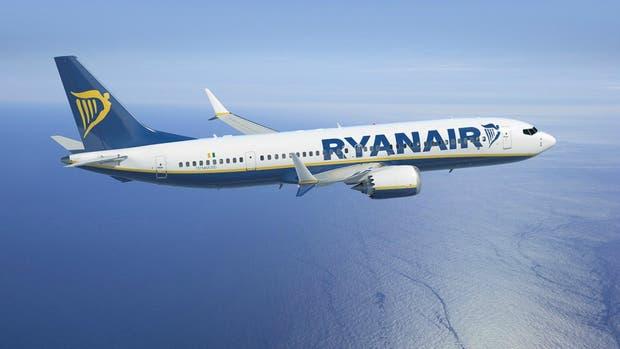 Un avión de la empresa Ryanair