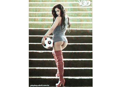 La modelo paraguaya posó desnuda para la edición brasileña de Playboy, para ver en 3D. Foto: Playboy Brasil