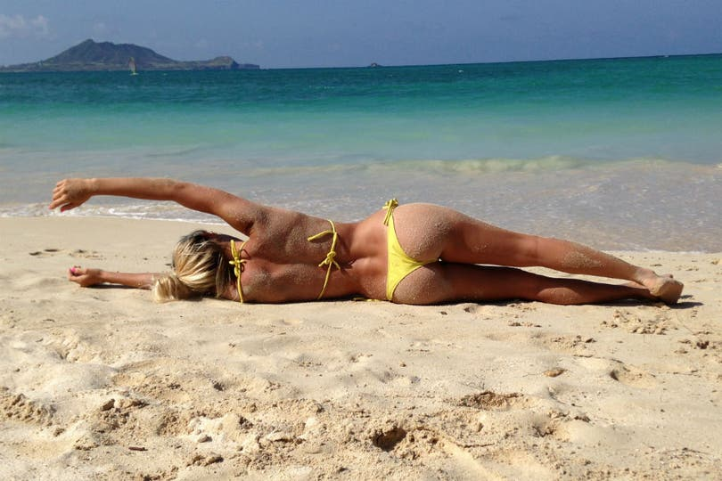 Noelia disfrutó del sol y el mar.