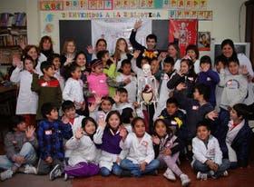 La presentación con los alumnos de la Escuela N° 72