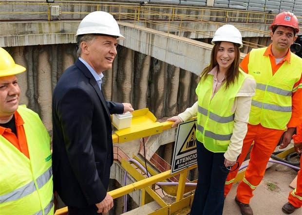 Macri y Vidal anteayer, con la puesta en marcha de la tuneladora