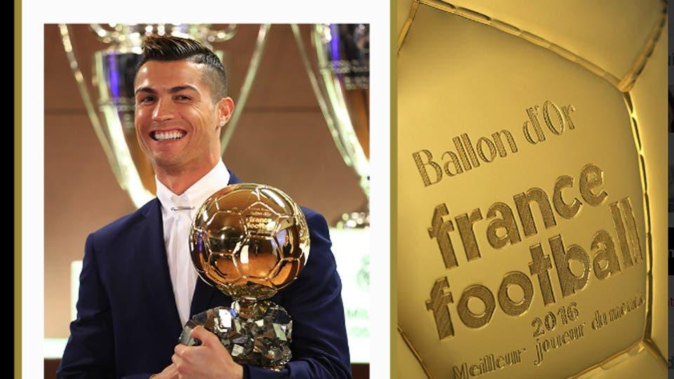 Cristiano Ronaldo, ganador de su cuarto Balón de Oro