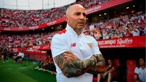 Sampaoli, en su último partido al frente de Sevilla