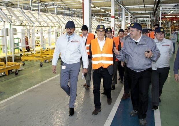 Cabrera, ayer, al recorrer la planta de Renault-Nissan