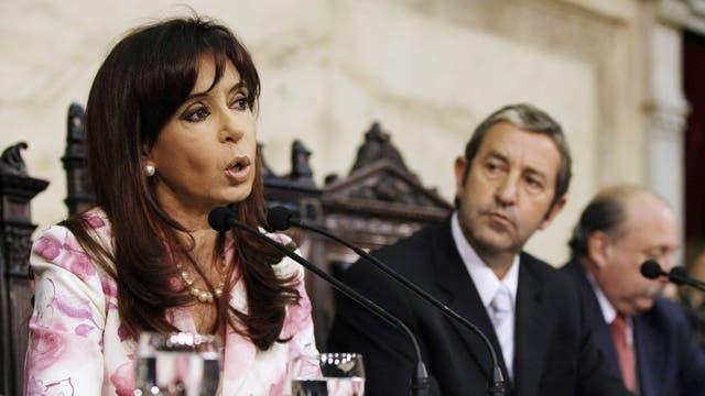 Cristina Kirchner y Julio Cobos en el 2009