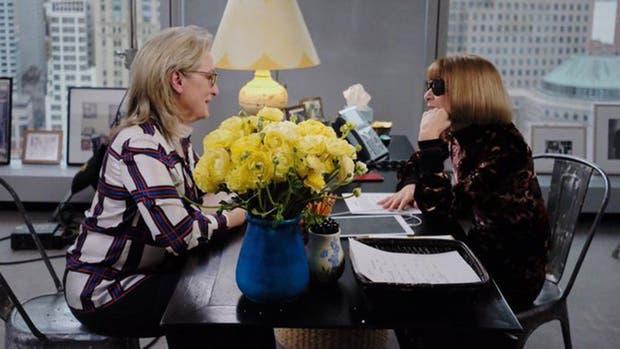 Meryl Streep junto a Anna Wintour