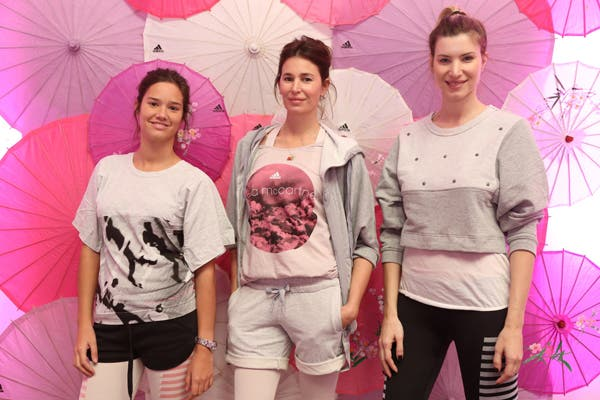 Manuela Viale, Dolores Barreiro y Soledad Ainesa presentes en el lanzamiento de la línea de yoga de Adidas, by Stella McCartney. Foto: Gentileza Público press group